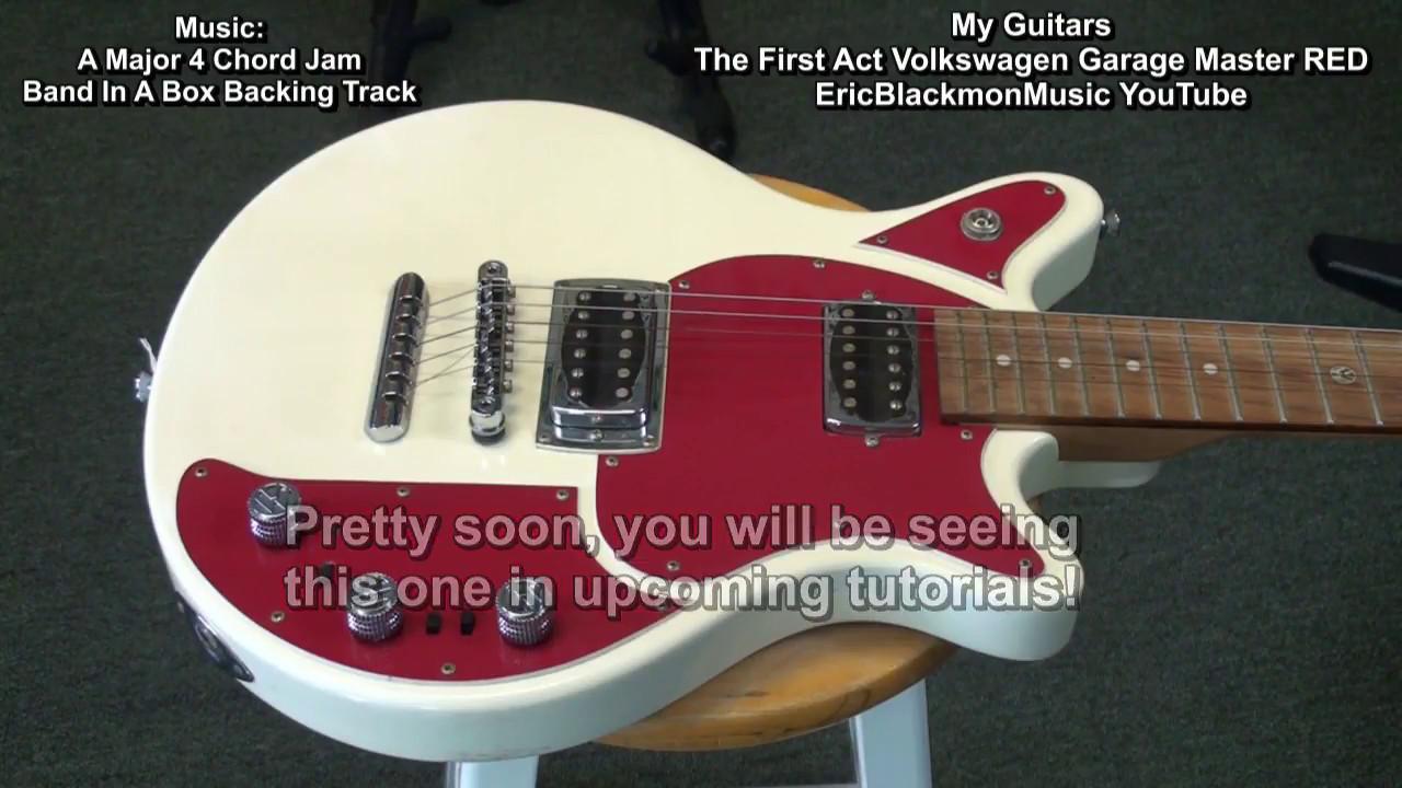 First Act Volkswagen Garage Master Red Slash Guitar Find Ericblackmonguitar Hd