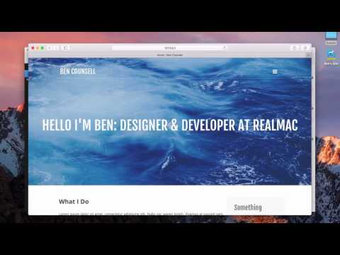 Additional Pages And Navigation Structure — RapidWeaver 7 For Beginners Lesson 2