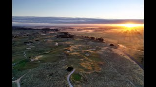 Barnbougle Dunes - sunrise flyover of the par-5 11th