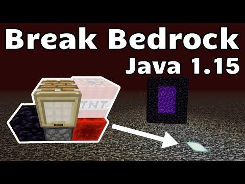 EASY Bedrock Breaking(Minecraft Java 1.14 - 1.15+)