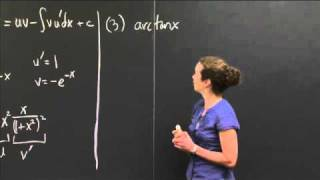 Finding u and v' When Integrating by Parts | MIT 18.01SC Single Variable Calculus, Fall 2010