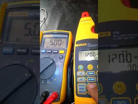 4-20mA to 0-10V converter test