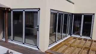 Теплая раздвижная алюминиевая дверь-гармошка Schuco ASS 70 FD(, 2014-08-13T03:25:51.000Z)