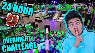 Download 24 HOUR OVERNIGHT CHALLENGE in TRAMPOLINE PARK! Mp3 and Videos