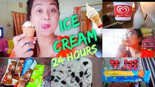 I ate only ICE CREAM for 24 Hours 😱😍 | Made it or not???