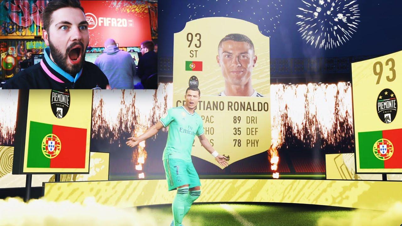 Omg I Packed Cristiano Ronaldo Fifa 20 Pack Opening Youtube