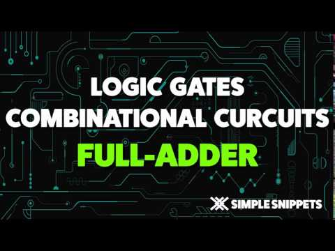 Full Adder Combinational Circuit | Boolean Algebra & Logic Gates