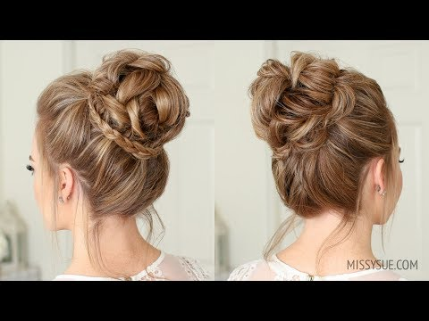Mini Braid Wrapped High Bun Missy Sue hair styles