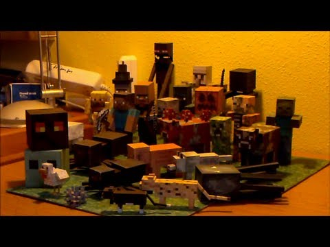 Papercraft Minecraft Papercraft collection with all Mobs from Minecraft 1.5 [german]