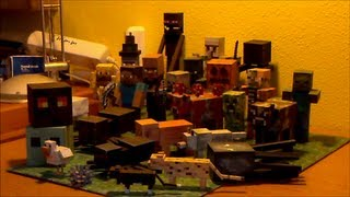 Minecraft Papercraft collection with all Mobs from Minecraft 1.5 [german]