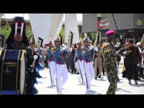 Akademi Angkatan Laut (AAL) Marching Band di World Oceans Day Indonesia Pavilion Milan Expo