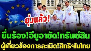 ล่าสุด!! ยุ่งแล้ว โดนทั้งยวงรบ.บิ๊กตู่ ยื่นร้อง! EU อายัดทรัพย์สิน ผู้เกี่ยวข้องละเ-มิ-ด-สิทธิในไทย