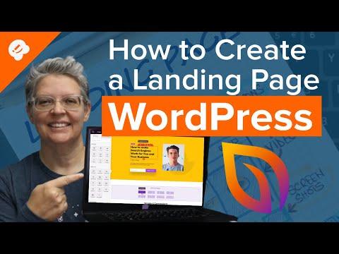 WordPress marketing landing page