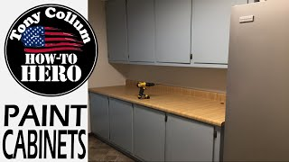 Laundry Room Cabinets | Part 1 | Paint | Tony Collum The How-to Hero