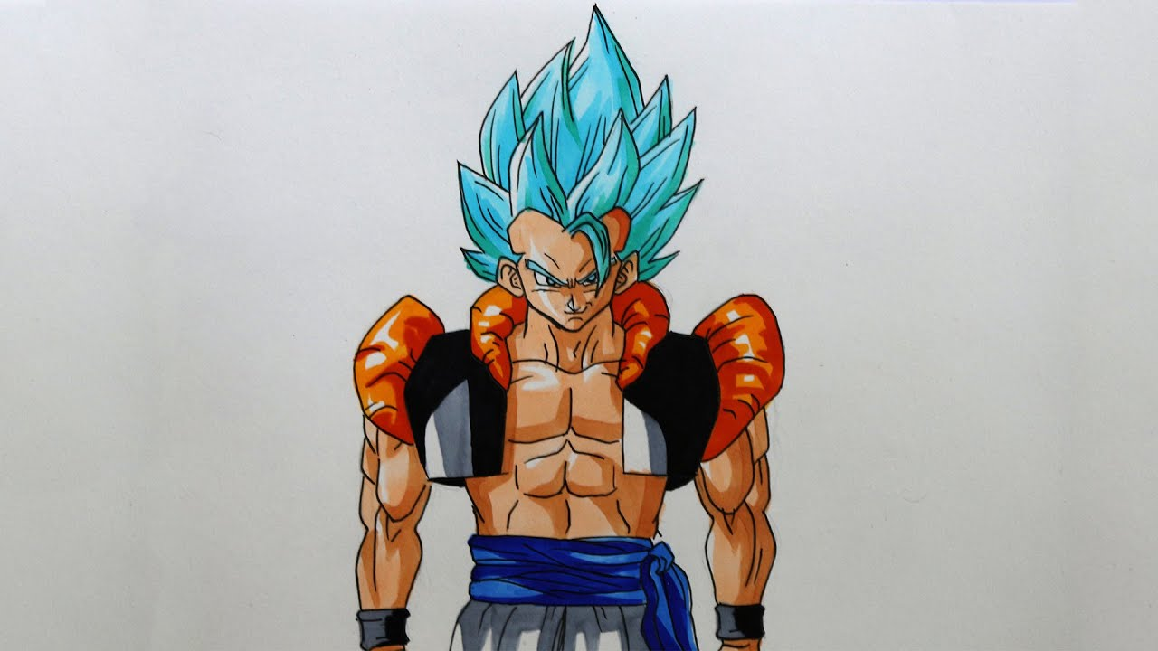 Drawing Gogeta Super Saiyan God SSJG  Dragon Ball Z  YouTube