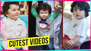Taimur Ali Khan CUTE SMILING, WALKING and more | CUTEST COMPILATION Of BOLLYWOOD KIDS