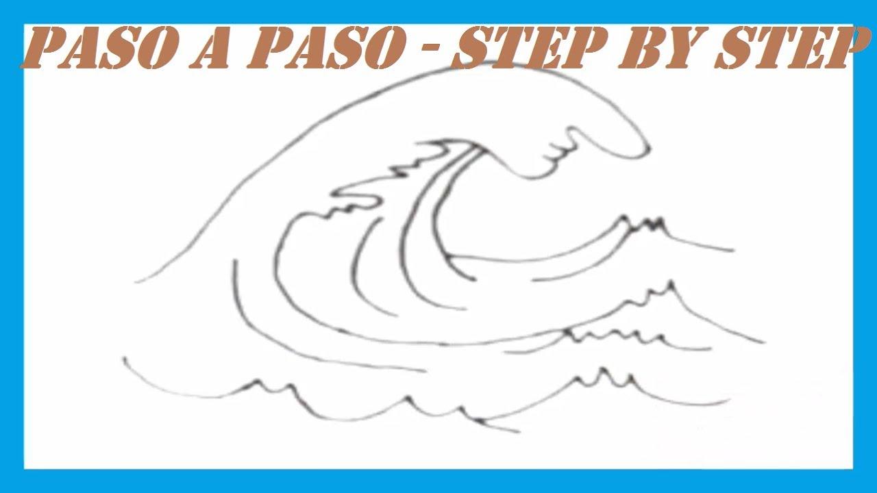 Como dibujar una Ola l How to draw a Wave  YouTube