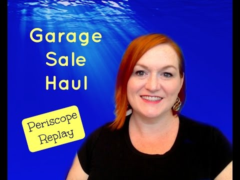 Garage Sale & Thrift Store Haul – Periscope Replay – Jewelry Haul – How I Make Money Selling Online