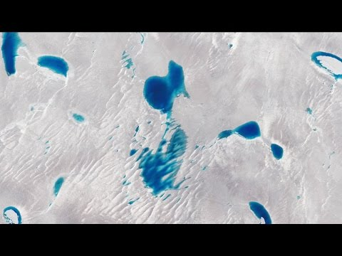 Blue lakes on Greenland's ice sheet