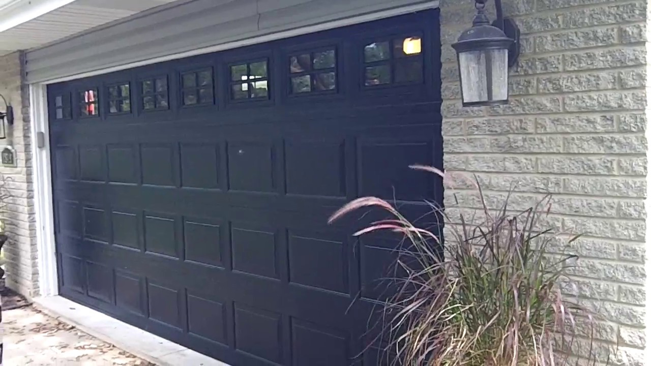 R Haas 780 Cool Black Garage Doors Near Me