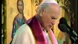 Pope John Paul II visits Sts. Vladimir & Olga Cathedral in Winnipeg