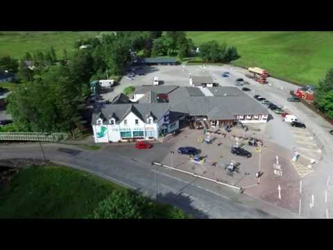 The Green Welly Stop, Tyndrum Scotland Aerial