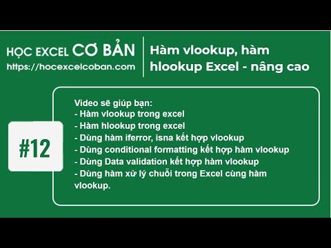 Học Excel cơ bản   #12 Hàm vlookup, hàm hlookup Excel - nâng cao
