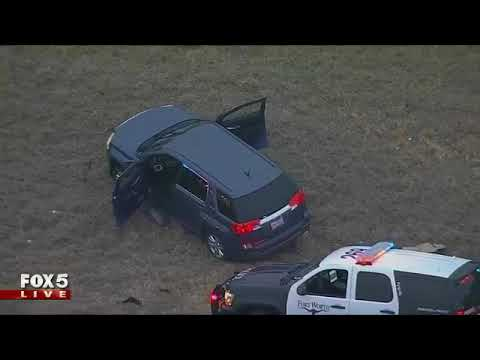Car chase through Fort Worth, Texas