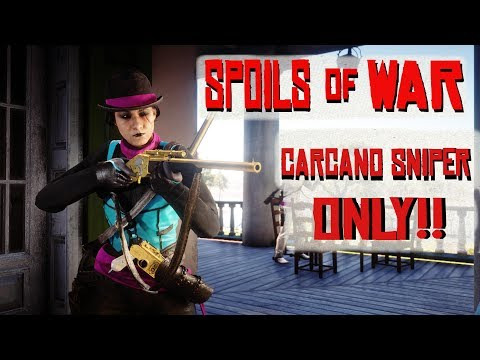 RED DEAD REDEMPTION 2 ONLINE // SPOILS OF WAR *NEW MODE*// CARCANO SNIPER RIFLE ONLY thumbnail
