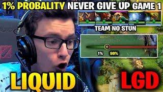 LIQUID vs LGD TI8 - MIRACLE HUSKAR HEART BREAKING GAME! 1% Win RATE Game 1