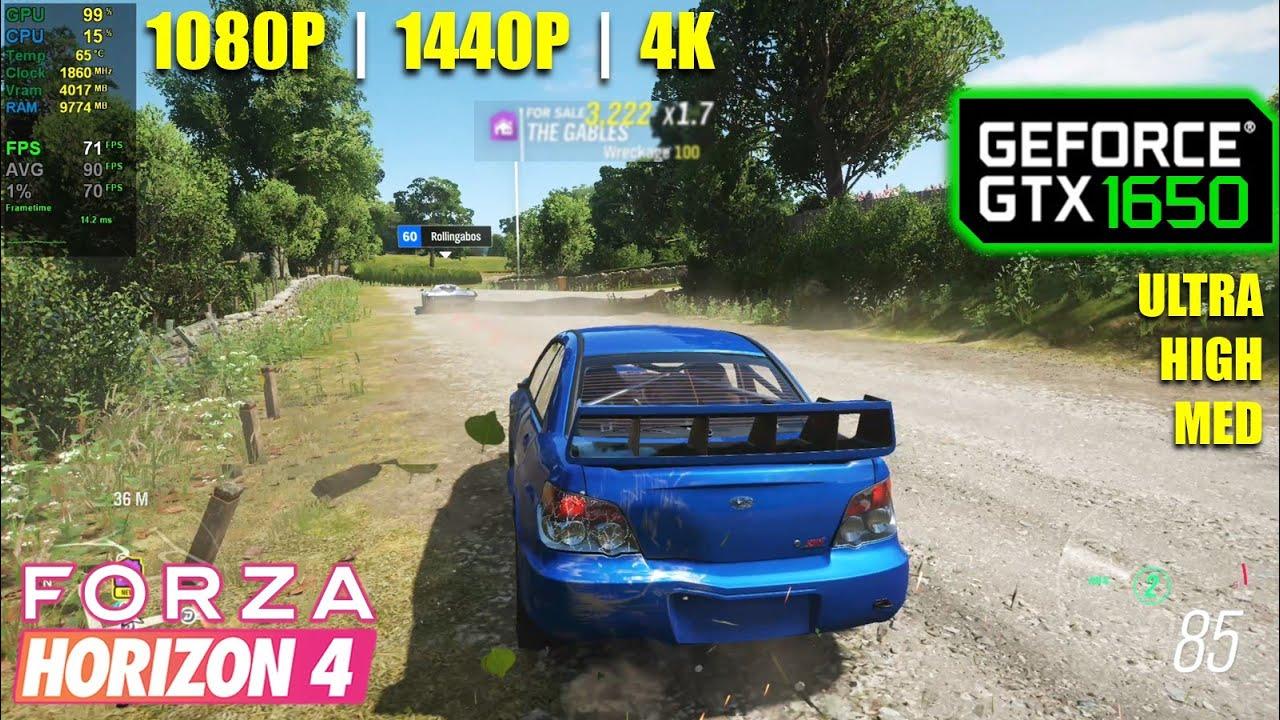 GTX 1650   Forza Horizon 4 - 1080p, 1440p, 4K