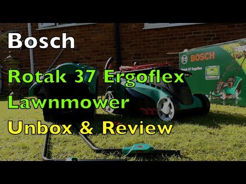 Bosch Rotak 37 Ergoflex Lawnmower Assembly and Review