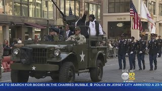 Thousands Line Fifth Ave For Veterans Day Parade