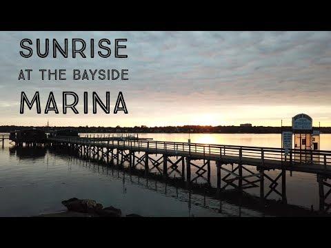 Sunrise at the Bayside Marina - 4k - DJI Mavic - New York City