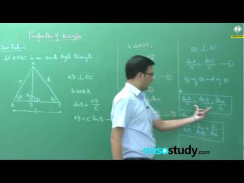 Properties of Triangle for mathematics class 11 by Kota faculty