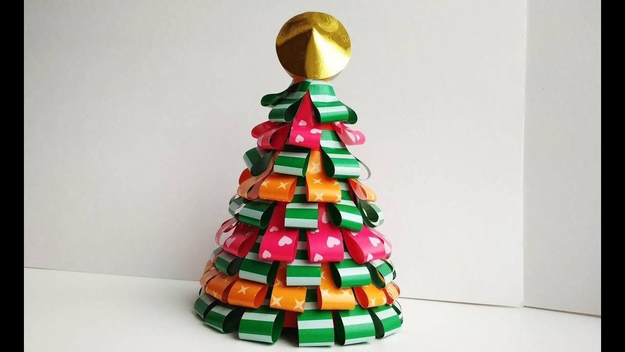 Как сделать елку из цветной