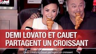Demi Lovato et Cauet partagent un croissant - C'Cauet sur NRJ