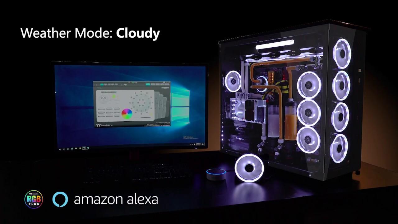 Riing Trio RGB Fan Series works with Amazon Alexa