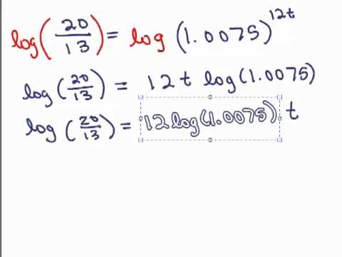log application 1 compound interest youtube