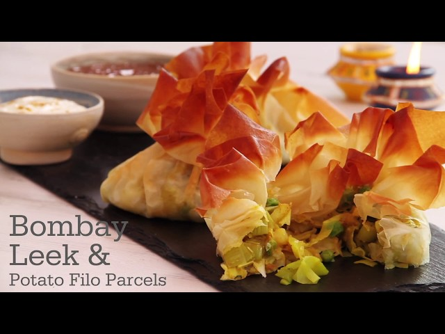 Video of Bombay Leek & Potato Filo Parcels