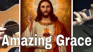 AMAZING GRACE Fingerpicking Beginners - EASY 1 fingered G Chord