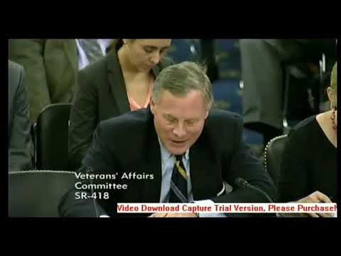 Senator Burr: Veterans Affairs (USA). Committee Remarks on Lejeune. (2015)