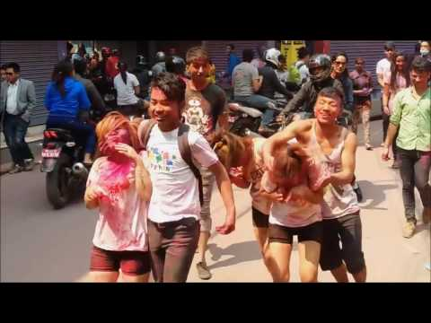 Holi Celebration With Thamel Girls