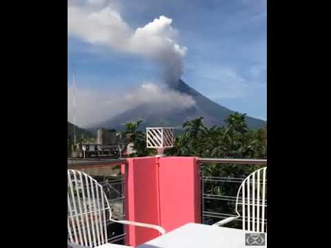 Mount Mayon  1 29 18  Pyroclastic Flow 2