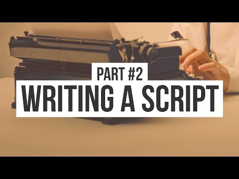 writing a script making an animated movie