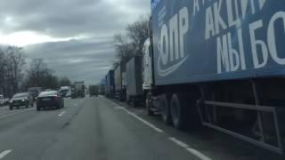 В Петербурге началась стачка дальнобойщиков