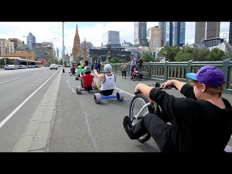 Urban Drift Triking - SlideMelbourne Bull Run