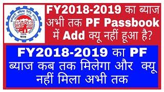 FY2018-2019 का ब्याज अभी तक PF Passbook में क्यू Add नहीं हुआ है    When EPF Interest Will Be Credit