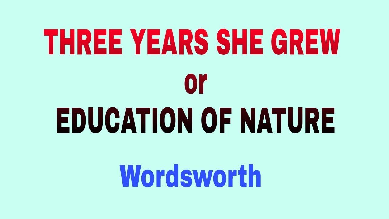 three years she grew william wordsworth
