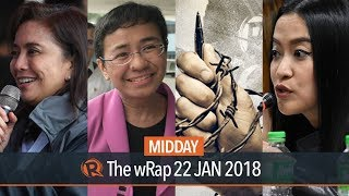 USTAA defends Mocha Uson award, Malacanang on Robredo, Maria Ressa appears before NBI | Midday wRap